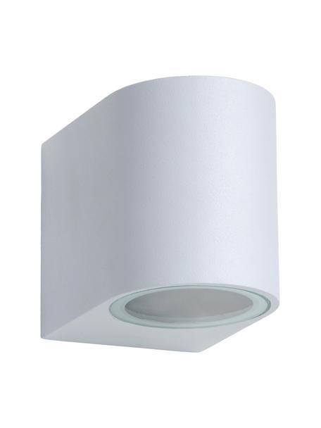 Außenwandleuchte Zora in Weiß, Lampenschirm: Aluminium, beschichtet, Weiß, 7 x 8 cm