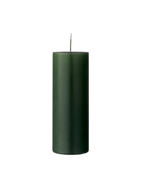 Świeca pieńkowa Lulu, Wosk, Zielony leśny, Ø 7 x W 20 cm