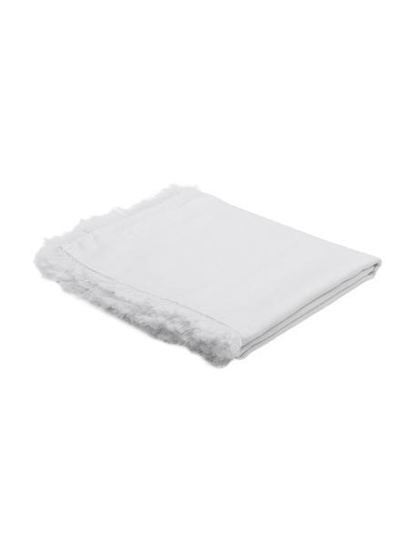 Leinen-Tischdecke Lucka, Leinen, Weiß, Für 6 - 8 Personen (B 150 x L 200 cm)