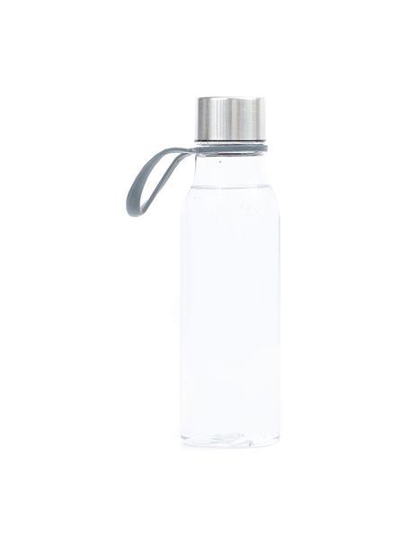 Kleine To Go Trinkflasche Lean, Flasche: Tritan (Kunststoff), BPA-, Transparent, Stahl, 570 ml