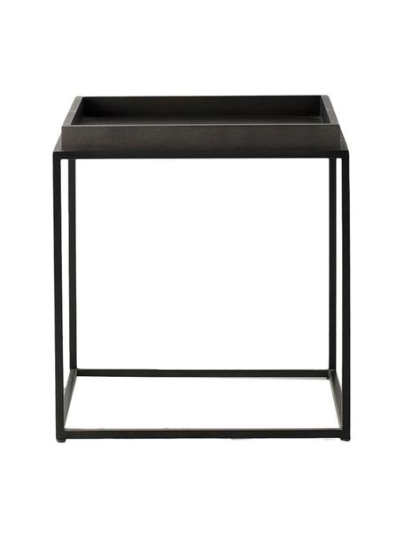 Beistelltisch Forden, Tischplatte: Mitteldichte Holzfaserpla, Gestell: Metall, lackiert, Schwarz, 55 x 60 cm
