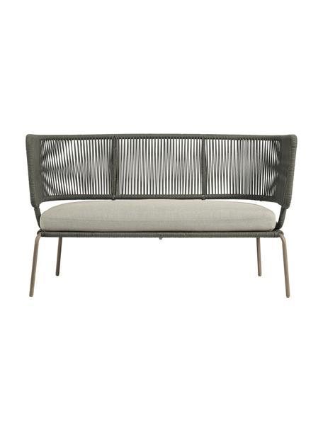 Garten-Loungesofa Nadin (2-Sitzer), Gestell: Metall, verzinkt und lack, Bezug: Polyester, Grün, B 135 x T 65 cm