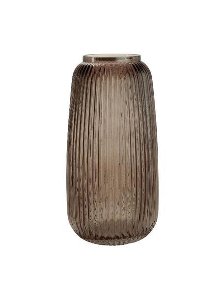 Glas-Vase Alessia, Glas, Braun, Ø 13 x H 25 cm