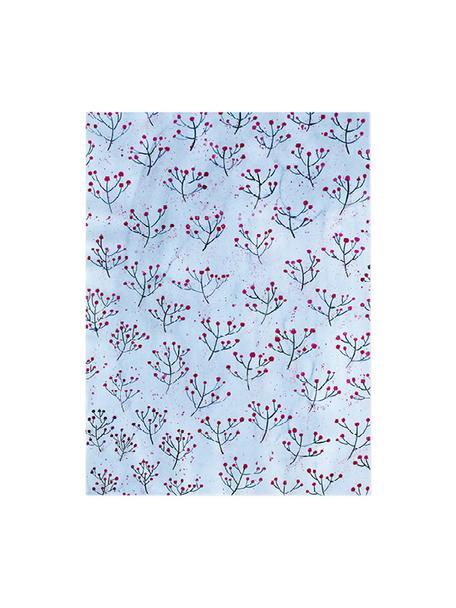 Rolka papieru prezentowego Gentle Breeze, 3 szt., Papier, Niebieski, czerwony, S 50 x W 70 cm