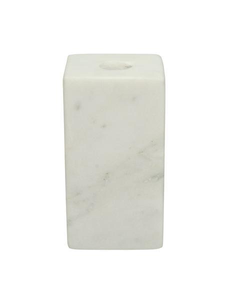 Candelabro in marmo Marble, Marmo, Bianco, Larg. 6 x Alt. 11 cm