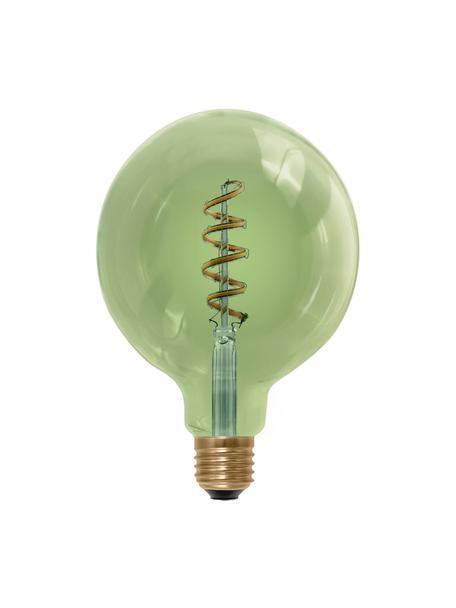 Lampadina E27 XL, 8W, bianco caldo, 1 pz, Paralume: vetro, Base lampadina: alluminio, Verde, Ø 13 x Alt. 18 cm