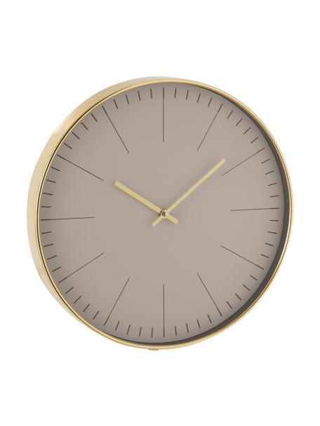 Zegar ścienny Silvester, Tworzywo sztuczne, Odcienie mosiądzu, Ø 40 cm
