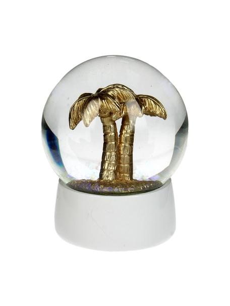 Bola decorativa Palm Tree, Blanco, dorado, Ø 7 x Al 8 cm