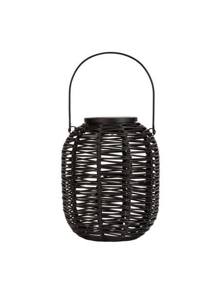 Outdoor solar lamp Crush, Lamp: polyrotan, Zwart, Ø 16 x H 20 cm