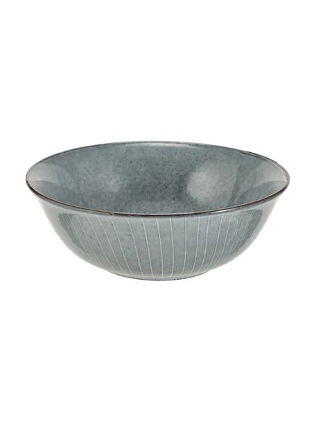 Bol artesanal Nordic Sea, Gres, Tonos grises y azules, Ø 21 x Al 8 cm