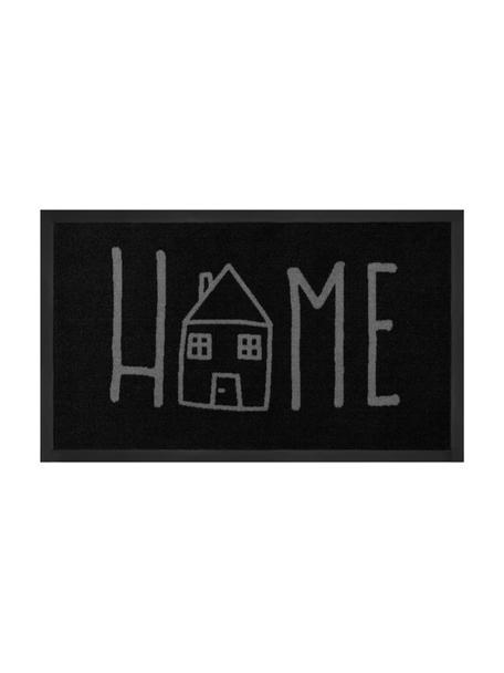 Polyamid-Fußmatte Easy Home, Vorderseite: Polyamid, Rückseite: Gummi, Schwarz, Grau, 45 x 75 cm