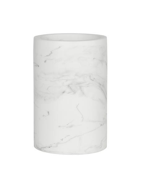 Kubek na szczoteczki Swan, Tworzywo sztuczne (poliresing ), Biały, marmurowy, Ø 7 x W 11 cm