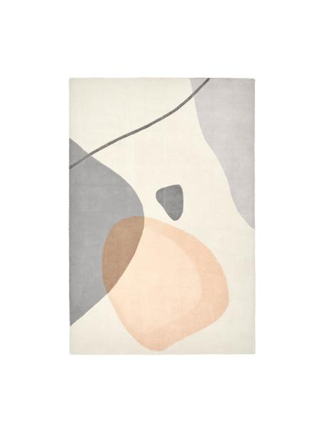 Tappeto in lana taftato a mano Luke, Retro: cotone, Beige, grigio, albicocca, Larg. 200 x Lung. 300 cm  (taglia L)