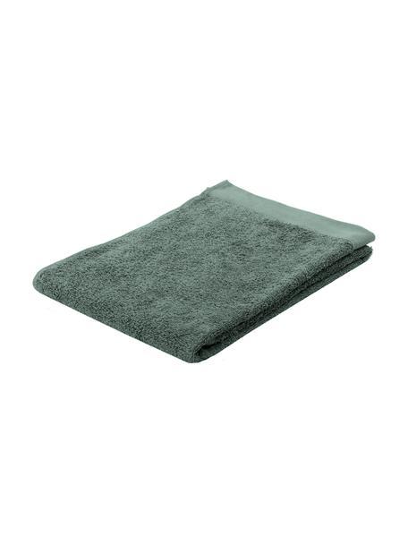 Asciugamano in cotone misto riciclato Blend, 65% cotone riciclato, 35% poliestere riciclato, Verde, Asciugamano