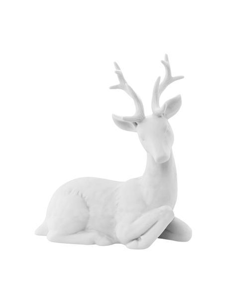 Dekoracja Reindeer, Porcelana, Biały, S 19 x W 22 cm