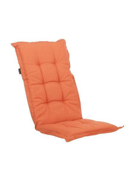 Einfarbige Hochlehner-Stuhlauflage Panama in Orange, Bezug: 50% Baumwolle, 45% Polyes, Orange, 50 x 123 cm