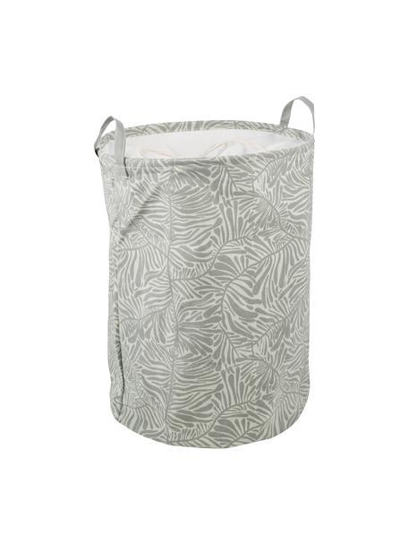 Aufbewahrungskorb Corinne, 65% Baumwolle, 35%Polyester, Weiss, Hellgrün, Ø 37 x H 52 cm
