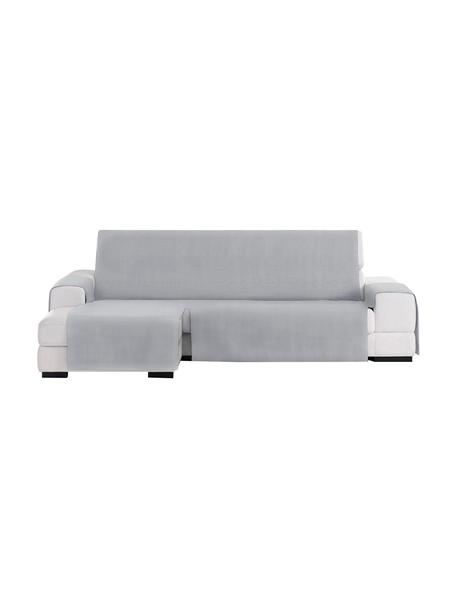 Funda de sofá Levante, 50%algodón, 50%poliéster, Gris, Brazo corto (240 cm)