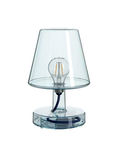 Mobile Dimmbare Außentischlampe Transloetje, Leuchte: Kunststoff, Blau, transparent, Ø 17 x H 27 cm