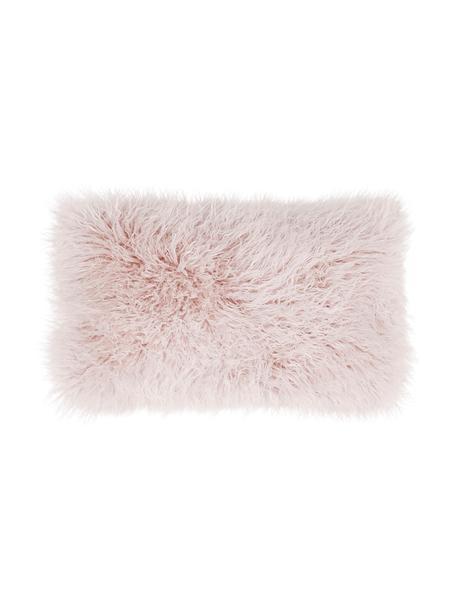 Poszewka na poduszkę ze sztucznego futra Morten, Blady różowy, S 30 x D 50 cm