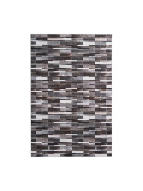 Tappeto effetto pelle My Bonanza, Retro: cotone, Beige, marrone- e tonalità grigie, Larg. 80 x Lung. 150 cm (taglia XS)