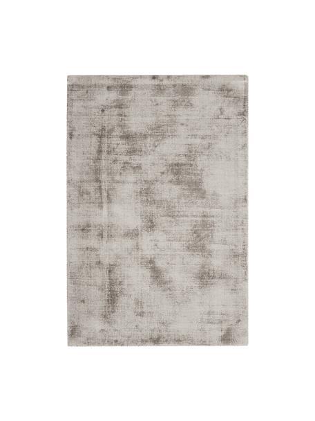 Tappeto in viscosa tessuto a mano Jane, Retro: 100% cotone, Taupe, Larg. 200 x Lung. 300 cm (taglia L)