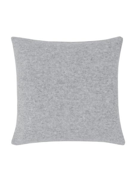 Funda de cojín de cachemira Viviana, 70%cachemira, 30%lana merino, Gris claro, An 40 x L 40 cm
