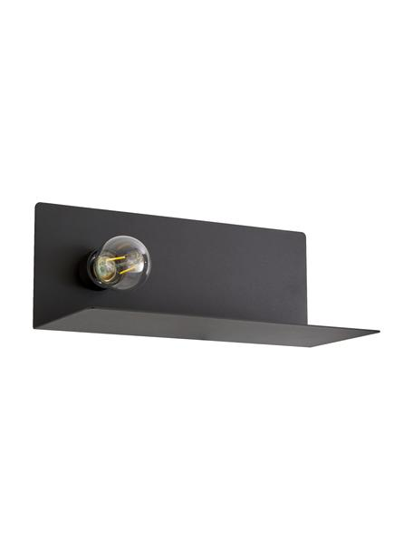 Wandlamp Joey met stekker, Zwart, 35 x 19 cm