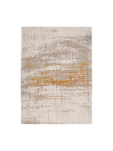 Tappeto Griff, Tessuto: Jacquard, Retro: Miscela di cotone, rivest, Fronte: grigio, dorato, bianco latte, Larg. 200 x Lung. 280 cm (taglia L)