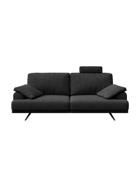 Sofa Prado (2-osobowa), Tapicerka: poliester, Nogi: metal lakierowany, Ciemnyszary, S 220 x G 107 cm