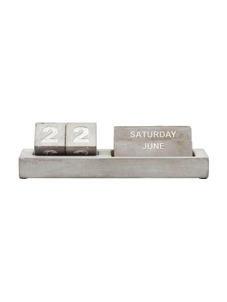 Calendario Eternety, Cemento, Gris, blanco, An 21x Al 6 cm