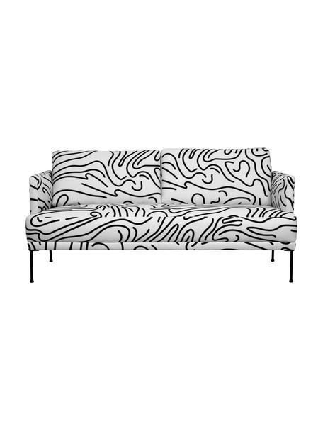 Sofá Fluente (2plazas), Tapizado: 100%poliéster 40.000cic, Estructura: madera de pino maciza, Patas: metal con pintura en polv, Tejido blanco, An 166 x Al 85 cm