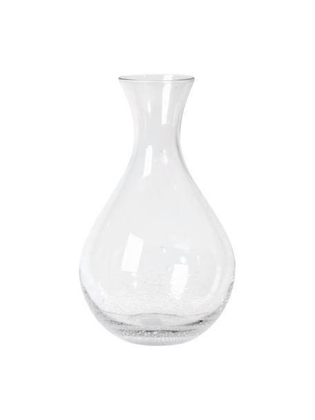 Mundgeblasene Karaffe Bubble mit Lufteinschlüssen, 250 ml, Glas, mundgeblasen, Transparent mit Lufteinschlüssen, 250 ml