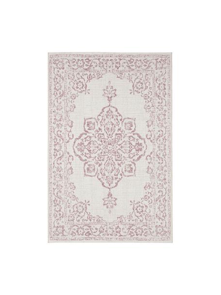 In- & Outdoor-Teppich Tilos im Vintage Style, 100% Polypropylen, Creme, Rosa, B 120 x L 170 cm (Größe S)