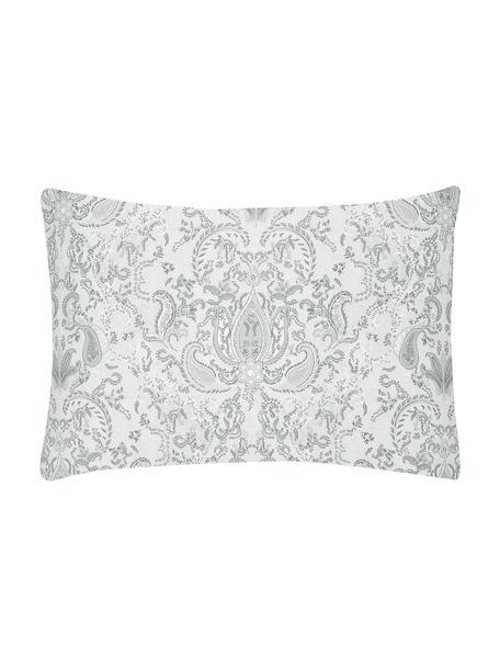 Funda de almohada de satén Grantham, Gris claro, An 50 x L 70 cm