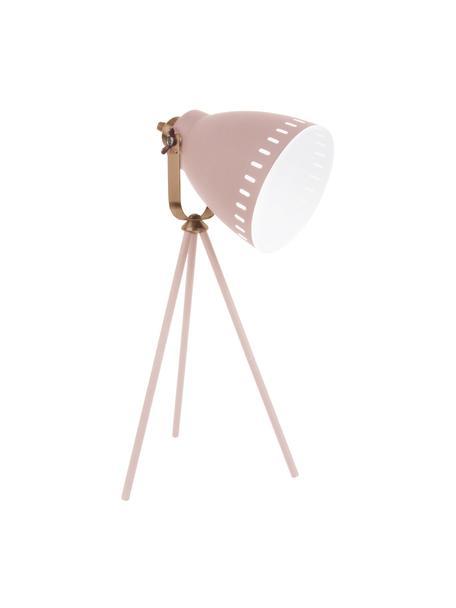 Lámpara de escritorio Mingle, Cable: plástico, Blanco, bronceado, An 27 x Al 54 cm