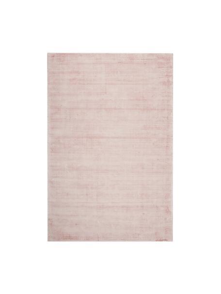 Tappeto in viscosa tessuto a mano Jane, Retro: 100% cotone, Rosa, Larg. 120 x Lung. 180 cm (taglia S)