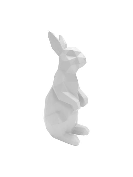 Decoratief object Origami Bunny, Polyresin, Wit, 25 x 13 cm