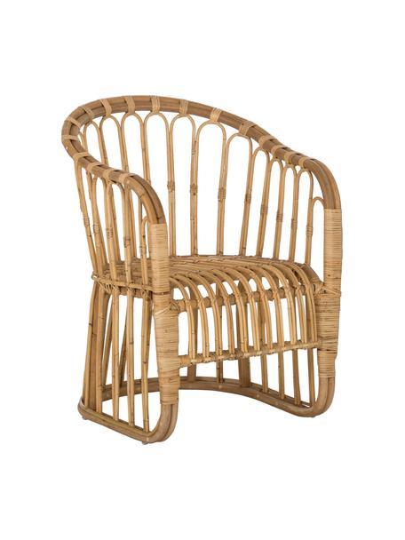Fotel z rattanu Palma, Ratan, Beżowobrązowy, S 60 x G 65 cm