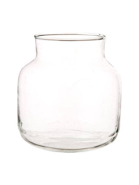 Wazon ze szkła dmuchanego z recyklingu Dona, Szkło recyklingowe, Transparentny, Ø 22 x W 23 cm