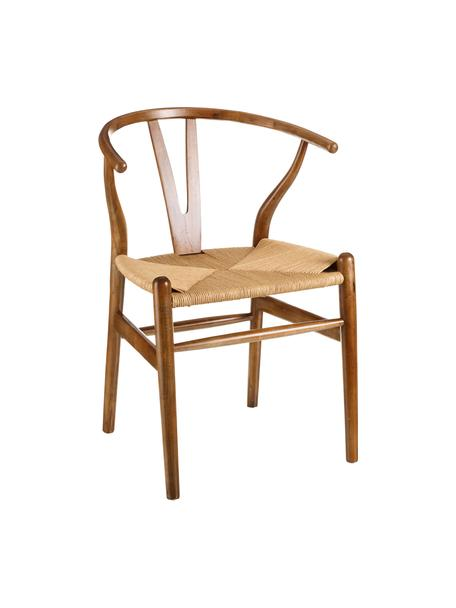 Krzesło z drewna Noa, Brązowy, S 48 x G 56 cm