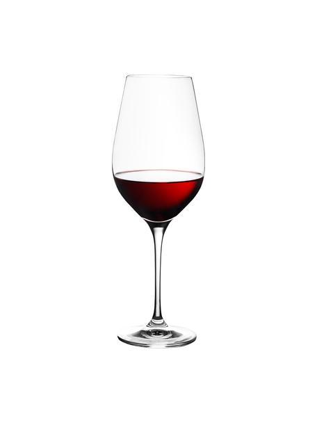 Kristall-Rotweingläser Harmony, 6er-Set, Edelster Glanz – das Kristallglas bricht einfallendes Licht besonders stark. So entsteht ein märchenhaftes Funkeln, das jede Weinverkostung zu einem ganz besonderen Erlebnis macht., Transparent, 490 ml