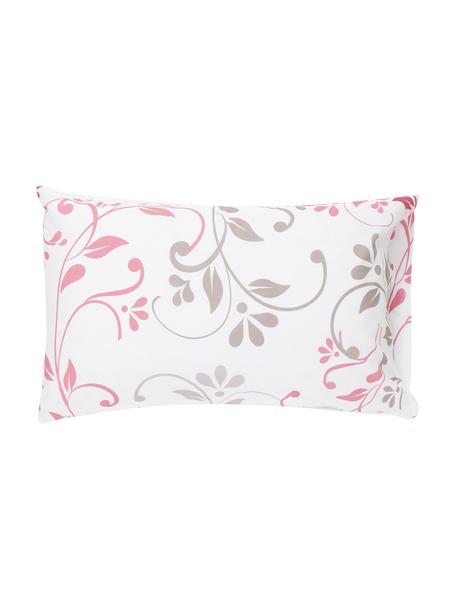 Fundas de almohada Mercurio, 2uds., Algodón, Blanco, rosa, verde, gris claro, An 50 x L 80 cm