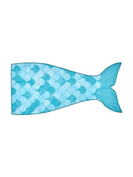 Strandtuch Mermaid, 55% Polyester, 45% Baumwolle Sehr leichte Qualität 340 g/m², Hellblau, Türkis, Weiss, 87 x 180 cm