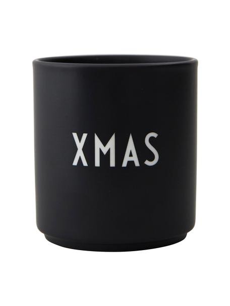 Taza de diñeño Favourite XMAS, Porcelana fina Bone China, Negro, blanco, Ø 8 x Al 9 cm