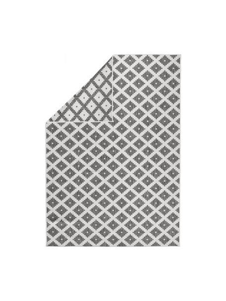 Alfombra reversible de interior/exterior Grace, Gris, crema, An 80 x L 150 cm (Tamaño XS)
