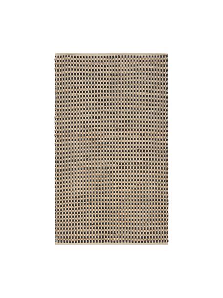 Tappeto in cotone/juta Fiesta, 55% cotone chindi, 45% juta, Nero, beige, Larg. 150 x Lung. 200 cm (taglia S)