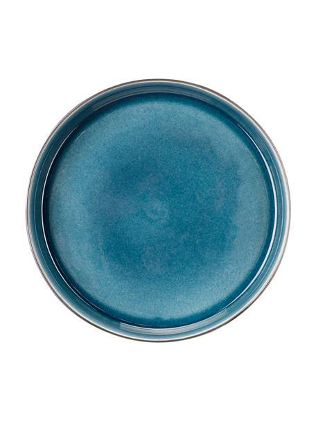 Soepborden Quintana, 2 stuks, Porselein, Blauw, bruin, Ø 23 cm