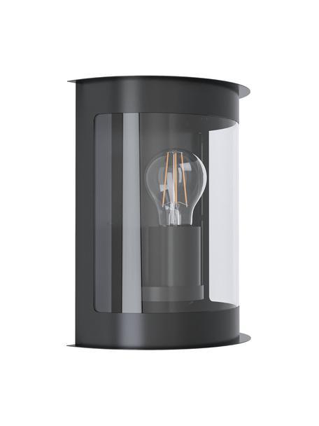 Outdoor wandlamp Daril, Verzinkt staal, kunststof, Zwart, 20 x 24 cm