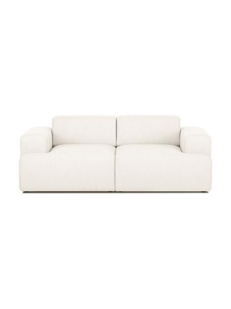 Sofa Melva (2-Sitzer) in Beige, Bezug: Polyester Der hochwertige, Gestell: Massives Kiefernholz, Spa, Füße: Kiefernholz, Webstoff Beige, B 200 x T 101 cm